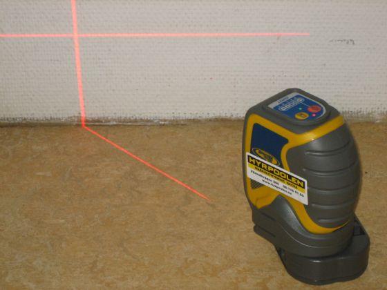 Avvägningsinstrument laserkryss